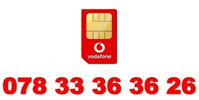Vodafone Gold Vip Mobile Phone Number Diamond Platinum Sim Card 33 36 36 26 3333