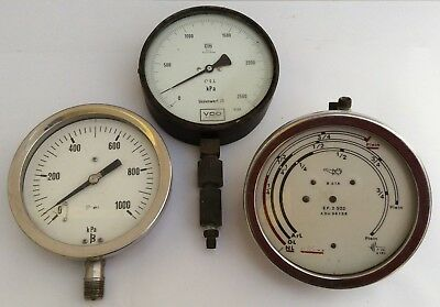 3 Vintage Machinery Gauges