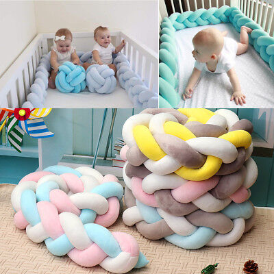 1.5/2/3/4M Baby Bedding Cushion Knotted Cot Bumpers Knot Ball Protector Pillow