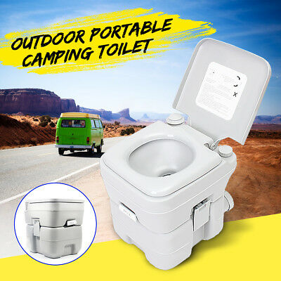 20L Outdoor/Indoor 5 Gallon Portable Toilet Flush Travel Camping Commode Potty