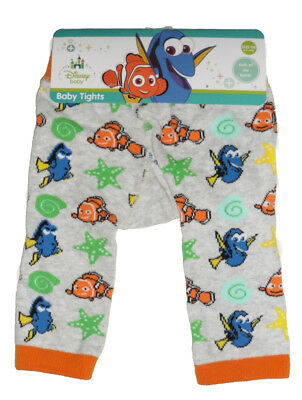 Size 00 - Baby Tights Disney Finding Dory Nemo Knit Leggings Pants