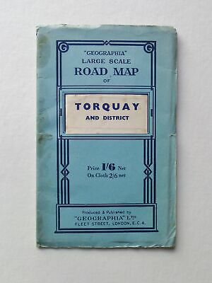 GEOGRAPHIA Geographia Large Scale Road Map of Torquay and District