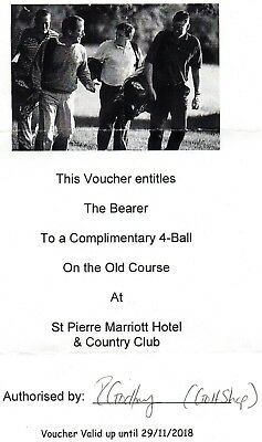 A Gift Voucher for 4 person to play golf at St Pierre Country Club, Chepstow