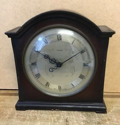 Vintage SMITHS 8 Day FLOATING BALANCE Mantle Clock Tempora Dial WORKING