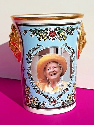 Vintage Sutherland 'The Queen Mother's 95th Birthday Lion Head Beaker'  COA