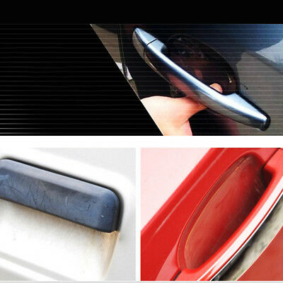 4 Universal Car Door Handle Invisible Anti Scratch Protector Films Sticker T5V4K