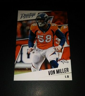 Von Miller Broncos #18 Panini Prestige 2018 NFL Football Trading Card