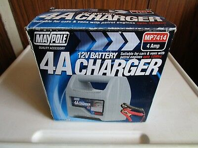 Maypole Mp7414 Battery Charger 4Amp 12V To 1200Cc Car Motorcycle