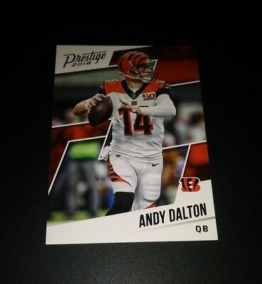 Andy Dalton Bengals #7 Panini Prestige 2018 NFL Football Trading Card