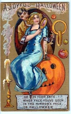 Halloween Vintage Pc~Early View ~Lovers On Jol