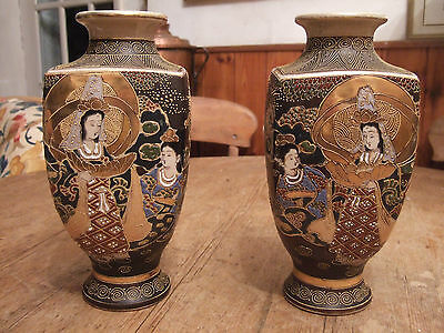 An Outstanding Matching Pair Of Antique Japanese Porcelain Vases