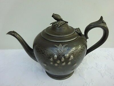 Pretty Antique Silver Teapot Harrison Fisher & Co EPBM Sheffield Plated