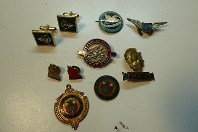 Collection Badges Cuff Links World Peace Sports Clubs Air Wing Dunlop Qantas