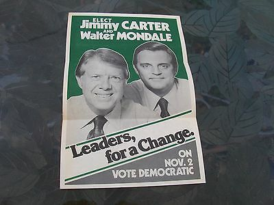 Jimmy Carter & Walter Mondale 1976 Presidential Campaign Brochure. Very Nice