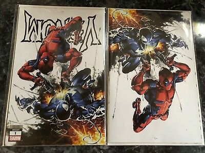 Venom 1 Marvel 2018 Clayton Crain Virgin Variant Deadpool Donny Cates Set 2