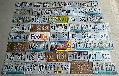Huge lot of 40 license plates tags for Arts/Crafts Hobby Mancave! Several states
