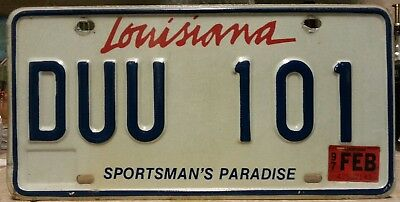 1997 Louisiana double Us & 1s license plate tag NO RESERVE!!!!