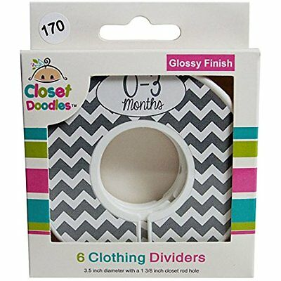 Closet Doodles Grey Chevron Gender Neutral Baby Clothing Dividers