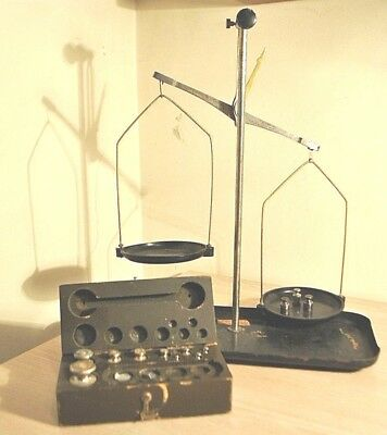 Vintage Russian/USSR Apothecary Scale Balance With Weights