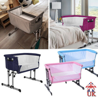 New 2 in 1 BABY Crib Bed Next to Me From Birth + Mattress Height Adjustable UK