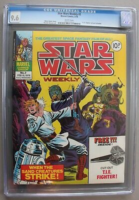STAR WARS WEEKLY #2 UK British Marvel Comic 1978 with RARE BONUS CGC NM+ 9.6