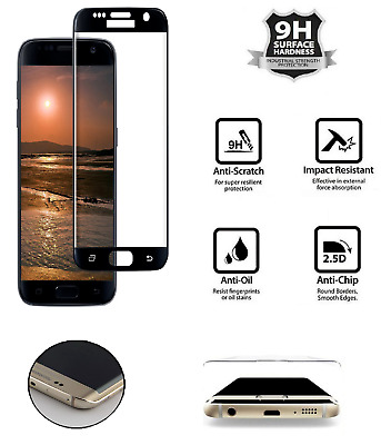 Samsung Galaxy S7 Screen Protector Tempered Glass Film 5D Curved Case Friendly