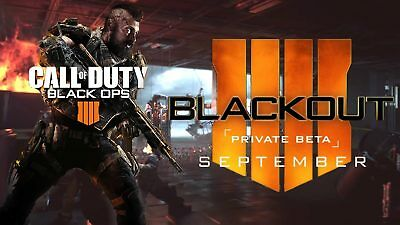 Black Ops 4 Beta Code Ps4,Xbox-One and PC