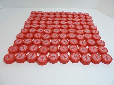 100 Red Coca Cola Coke Plastic Bottle Caps for Crafts and/or Trade in Points.