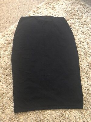 Black H&M Mama Over Bump Maternity Skirt UK Size L