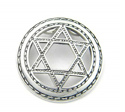 Seal of Solomon, Star of David .925 Sterling Silver Pendant by Peter Stone, New