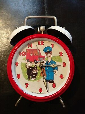 Vintage 80s 1985 Postman Pat Animated Alarm Clock all original but not working