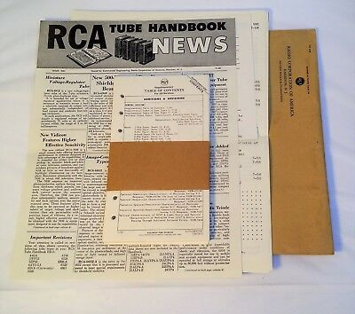 1958 RCA Receiving Tube Manual HB-3 Supplementary Contents - New