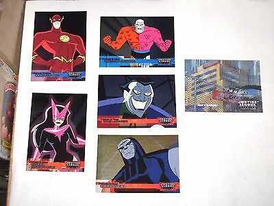2003 Justice League Dc Comics Insert 6 Card Lot! Friends Foes Action Lenticular!