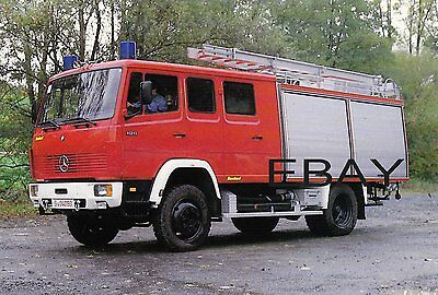A 1986 Mercedes 1120 AF37 TLF 16 with The German Fire Brigade Postcard