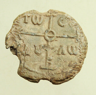 Ancient Byzantine Lead Seal  D=25-27mm  12g.