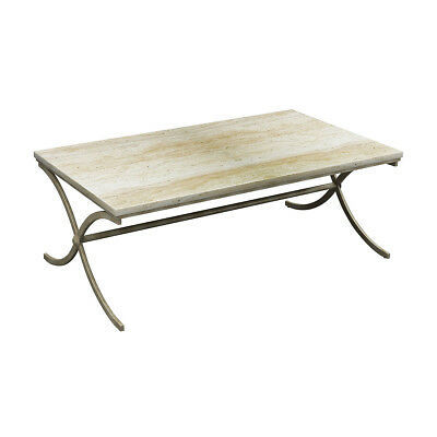 Stein World Marble And Iron Coffee Table In Bronze And Chalk Finish 367-011