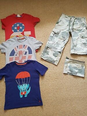 Boys Mini Boden & Joules Tops & Trouser Bundle, 4-5 Years, Very Good Condition