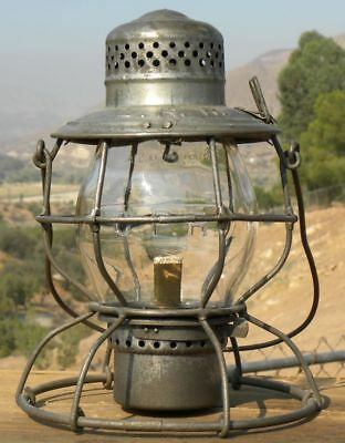 CANADIAN PACIFIC TALL GLOBE RAILROAD LANTERN - Clear Cast CPR Globe