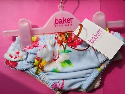 Brand New Ted Baker Baby Girls Floral Frilly Pants 2 Pack 6-9m