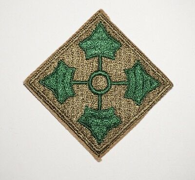 4th Infantry Division Patch WWII US Army P7794