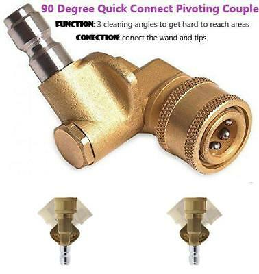 Prince Mark Pm-90 Quick Connecting Pivoting Coupler For Pressure Washer Nozzle