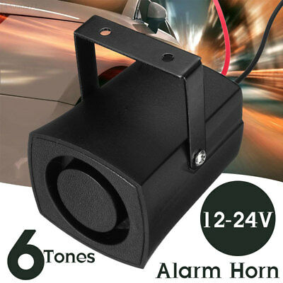 Car Horn 105db 6 Tones Air Horn Siren Loud Horn Universal Police PA Speaker