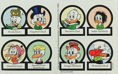 Vintage 1995 Stickers Duck Family Louie Scrooge Clinton Sulfie Fethry Fergus