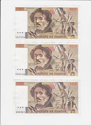 France  ,banque De France  ,pick # 128 ,100 Francs ,1945 To 1957 ,2Pcs