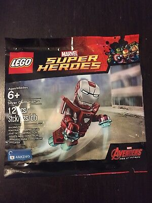 NEW SPECIAL Lego Marvel Silver Centurion MINIFIGURE SUPER HEROES IRON MAN SDCC