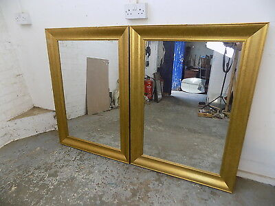 pair,two,reproduction,antique,large,rectangle,gold,mirrors,wall mirrors,mirror,