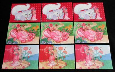 Vintage Lot of 9 Hallmark ROSE PETAL PLACE Valentine's Cards with Envelopes~1983