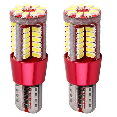 2X T10 Clear Light CANBUS ERROR FREE 501 194 W5W 3014 57SMD Car LED Light Bulbs