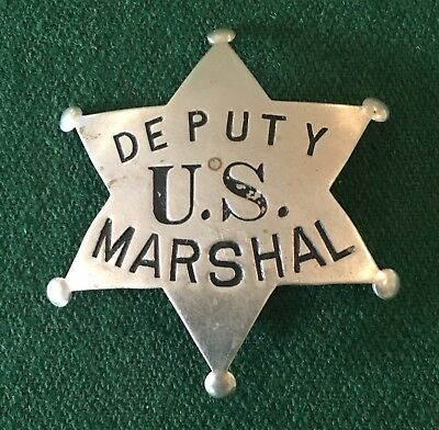 Obsolete Antique Old West Deputy US Marshal 6 Point Star Badge - Free Shipping
