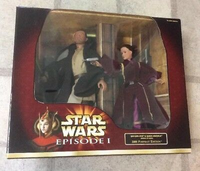 Star Wars Episode I 2000 Portrait Edition Qui-Gon Jinn & Queen Amidala